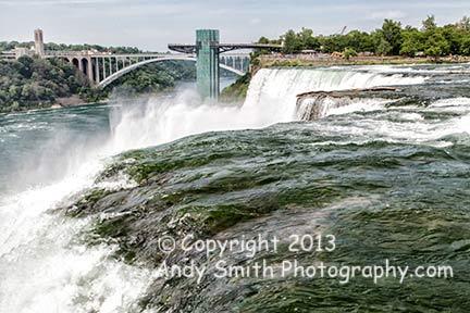 The American Falls and Rainbow Bridge