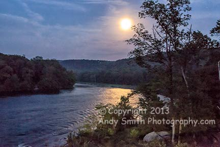Full Moon over the Delaware River