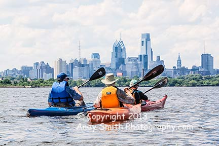 Kayaking Toward Philadelphia