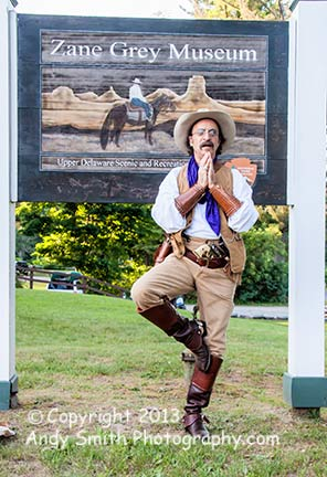 Cowboy Dentist Does Yoga at Zane Grey Museum