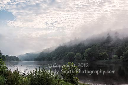 Misty Morning at Lackawaxen