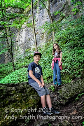Colby and Caitlyn on the indian Ladder Trail