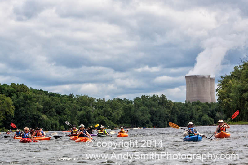 Paddling Below Martin's Creek Power Plant